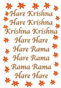 The maha-mantra